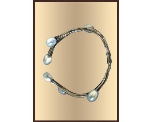 """Серебряное кольцо для салфеток """"Верба"""""""