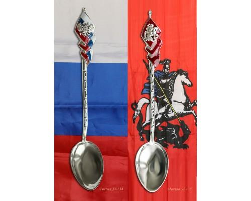 """Набор серебряных ложек """"Патриот"""" 2 шт."""